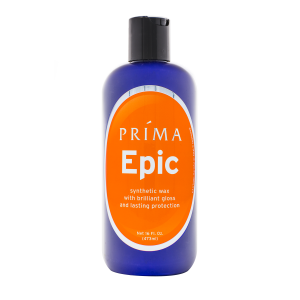 One bottle of Prima Car Care Epic is displayed with a blank background