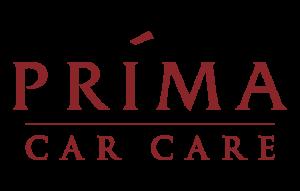 Prima Car Care Logo in red