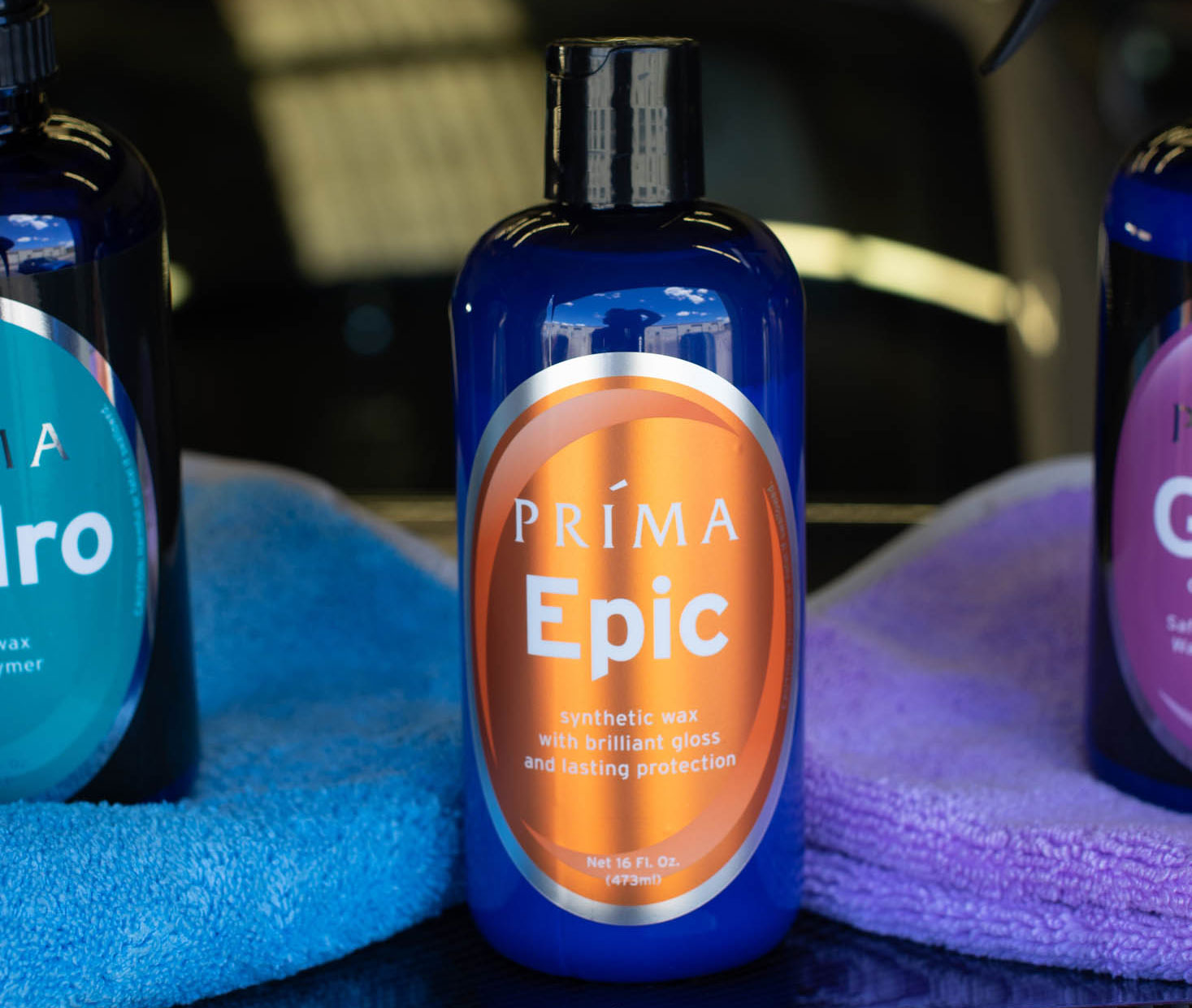 A bottle of Prima Epic synthetic wax